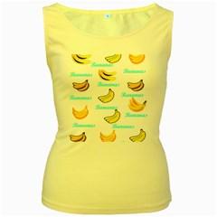Bananas Women s Yellow Tank Top