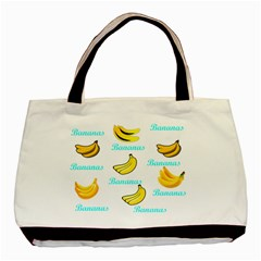 Bananas Basic Tote Bag by cypryanus