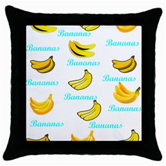Bananas Throw Pillow Case (black)