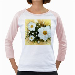 Summer Anemone Sylvestris Girly Raglans