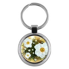 Summer Anemone Sylvestris Key Chains (round)