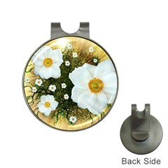 Summer Anemone Sylvestris Hat Clips With Golf Markers