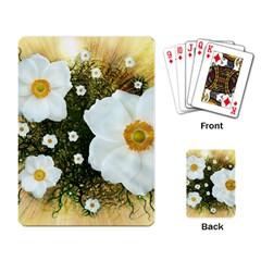Summer Anemone Sylvestris Playing Card
