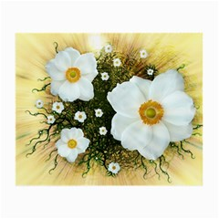 Summer Anemone Sylvestris Small Glasses Cloth (2 Side) by Nexatart