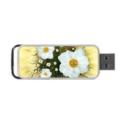 Summer Anemone Sylvestris Portable Usb Flash (one Side)