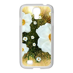 Summer Anemone Sylvestris Samsung Galaxy S4 I9500/ I9505 Case (white) by Nexatart