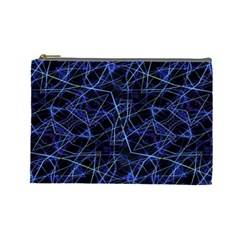 Galaxy Linear Pattern Cosmetic Bag (large)