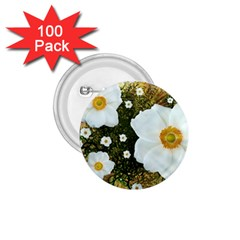 Summer Anemone Sylvestris 1 75  Buttons (100 Pack)