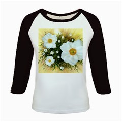 Summer Anemone Sylvestris Kids Baseball Jerseys