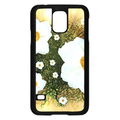 Summer Anemone Sylvestris Samsung Galaxy S5 Case (black) by Nexatart