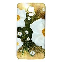 Summer Anemone Sylvestris Samsung Galaxy S5 Back Case (white) by Nexatart