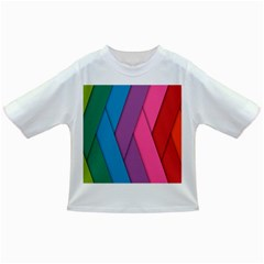 Abstract Background Colorful Strips Infant/toddler T Shirts