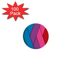 Abstract Background Colorful Strips 1  Mini Buttons (100 Pack)