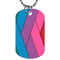 Abstract Background Colorful Strips Dog Tag (two Sides)