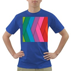 Abstract Background Colorful Strips Dark T Shirt