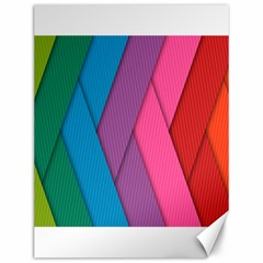 Abstract Background Colorful Strips Canvas 12  X 16