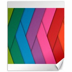 Abstract Background Colorful Strips Canvas 16  X 20   by Nexatart