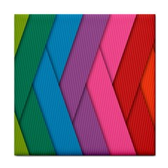 Abstract Background Colorful Strips Face Towel by Nexatart