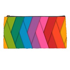 Abstract Background Colorful Strips Pencil Cases