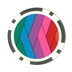 Abstract Background Colorful Strips Poker Chip Card Guard (10 Pack)