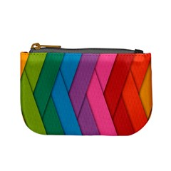 Abstract Background Colorful Strips Mini Coin Purses by Nexatart