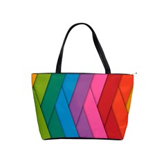 Abstract Background Colorful Strips Shoulder Handbags