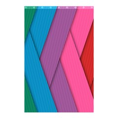 Abstract Background Colorful Strips Shower Curtain 48  X 72  (small)  by Nexatart