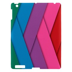Abstract Background Colorful Strips Apple Ipad 3/4 Hardshell Case