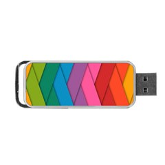Abstract Background Colorful Strips Portable Usb Flash (two Sides) by Nexatart
