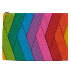 Abstract Background Colorful Strips Cosmetic Bag (xxl)  by Nexatart