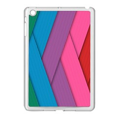 Abstract Background Colorful Strips Apple Ipad Mini Case (white)