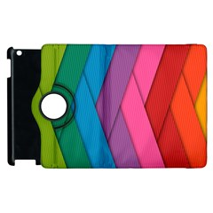 Abstract Background Colorful Strips Apple Ipad 3/4 Flip 360 Case by Nexatart