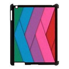 Abstract Background Colorful Strips Apple Ipad 3/4 Case (black) by Nexatart