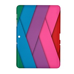Abstract Background Colorful Strips Samsung Galaxy Tab 2 (10 1 ) P5100 Hardshell Case  by Nexatart