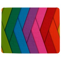 Abstract Background Colorful Strips Jigsaw Puzzle Photo Stand (rectangular)