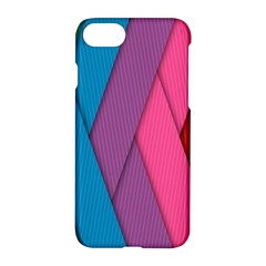 Abstract Background Colorful Strips Apple Iphone 7 Hardshell Case