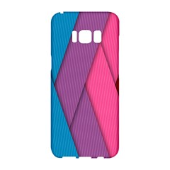 Abstract Background Colorful Strips Samsung Galaxy S8 Hardshell Case  by Nexatart