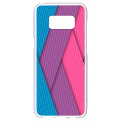 Abstract Background Colorful Strips Samsung Galaxy S8 White Seamless Case by Nexatart