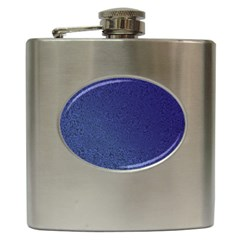 Fractal Rendering Background Blue Hip Flask (6 Oz)