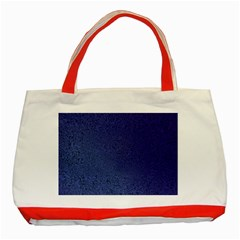 Fractal Rendering Background Blue Classic Tote Bag (red) by Nexatart