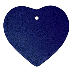 Fractal Rendering Background Blue Heart Ornament (two Sides)