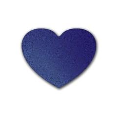 Fractal Rendering Background Blue Heart Coaster (4 Pack)