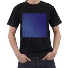 Fractal Rendering Background Blue Men s T Shirt (black)