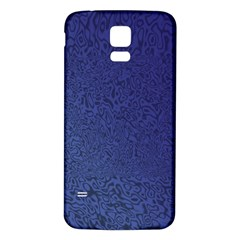 Fractal Rendering Background Blue Samsung Galaxy S5 Back Case (white)
