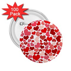 Abstract Background Decoration Hearts Love 2 25  Buttons (100 Pack)