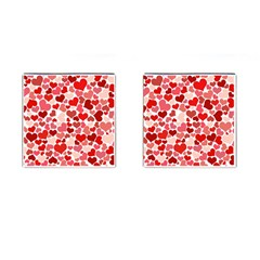 Abstract Background Decoration Hearts Love Cufflinks (square)