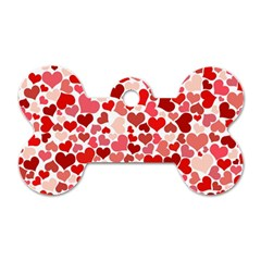 Abstract Background Decoration Hearts Love Dog Tag Bone (two Sides)