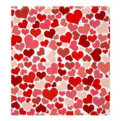 Abstract Background Decoration Hearts Love Shower Curtain 66  X 72  (large)