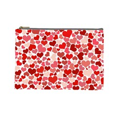 Abstract Background Decoration Hearts Love Cosmetic Bag (large)