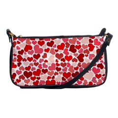 Abstract Background Decoration Hearts Love Shoulder Clutch Bags